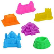 6Pcs Castle Clay Molds Set Children Toy Play Sands Beach DIY Magic Education Toy