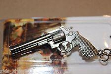 Classic six shooter pistol cross fire metal keychain US SELLER key chain