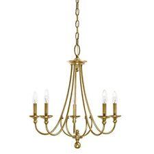 Kichler Lighting Camella 5-Light Brushed Natural Brass Finish Candle Chandelier