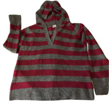 Motherhood Maternity Pink And Gray Striped Hooded Sweater XL Excellent Condition