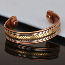 Bracelet Women New Cuff Link Copper Magnetic Pain Bio Therapy Healing Bangle