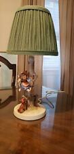 "Vintage Hummel Lamp ""Out Of Danger"" Little Girl And Dog Goebel West Germany"