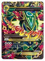 Rayquaza 105/108 Gold Mega EX Card Pokemon Collection Plastic Card Free 2 EX