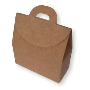 5 LARGE KRAFT BOX BAG GIFT BAG, HEN PARTY, BIRTHDAY, CHRISTENING, WEDDING