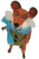 Primitive Country Folk-Art Cliff Fox With Glasses