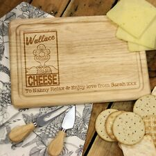 Personalised Wallace & Gromit 'Wallace Cheese' Rectangle Cheese Chopping Board