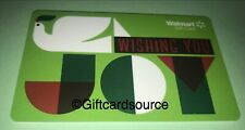 WALMART WISHING YOU JOY GIFT CARD CANADA COLLECTIBLE GREEN NO VALUE NEW