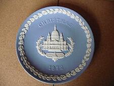 Vintage 1972 Christmas Plate. St. Paul's Cathedral. In Wedgwood blue Jasperware