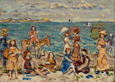 At the Beach by Maurice Brazil Prendergast 60cm x 43cm Art Paper Print