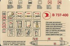 Safety Card - THY Turkish Airlines - B737 400 - 3 Red Cross version (S3490)