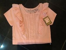 NWT Juicy Couture New & Gen. Ladies Size Small Pink Cotton Short Sleeve Blouse