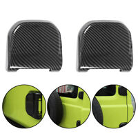 2PCS Carbon Fiber ABS Rear Tail Door Tailgate Hinge Cover For Suzuki Jimny 2019+
