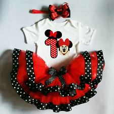 Minnie Mouse Red and Black Ribbon Tutu Set 6-7years old