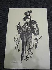 """PERY dominique Estampe """"Don Quichotte de la Mancha""""  exemplaire numéroté 1997"""