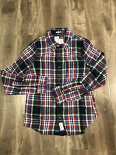 Brand New Abercrombie & Fitch Mens Flannel Muscle Shirt Plaid Size:Small