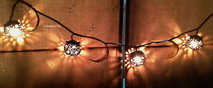 Coconut Shell Wooden Lantern Shade Light String Lamp Living Bed Room Decor Gift