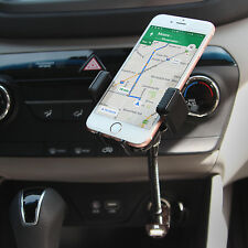 Built in USB Charger Car Mount Goose neck Cell Holder for iPhone 7 Plus Cradle