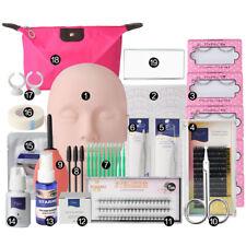 Mannequin Training MakeUp False Eyelashes Extension Glue Tool Practice Set Kit