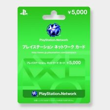 Sony Japan Playstation Network PSN 5000 Yen Card PS4 PS3 Vita PSP