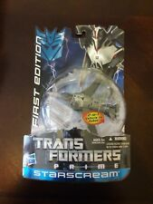 2011 Transformers Prime 1ST First Edition STARSCREAM - NEW SEALED RARE