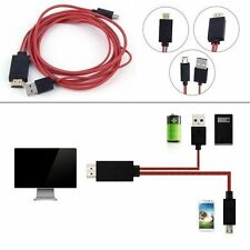 2M Micro USB MHL a HDMI Cable para SAMSUNG GALAXY SIII i9300 S3 S4 1080P HD TV