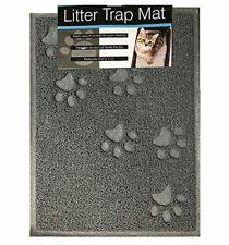 bulk buys Quality Gray Cat Litter Trap Mat, Non-Slip Backing, Dirt Catcher, Soft