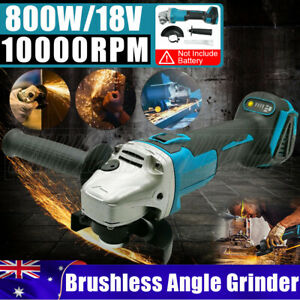 125mm Cordless Brushless Angle Grinder Replace For Makita 18V Battery DGA504Z AU