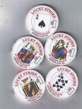 Pete's Place Royal Straight Flush Set Of Five Casino Chips Central City Colorado
