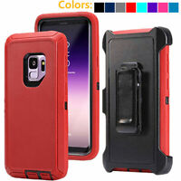 For Samsung Galaxy S9 / S9+Plus Shockproof Case Belt Clip Fits Otterbox Defender