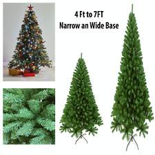 Christmas Tree Artificial 4Ft 5Ft 6Ft 7Ft Spruce Pine with Stand Xmas PVC Green