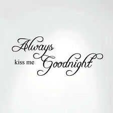 Always Kiss Me Goodnight Quote Decal Removable Art Wall Sticker Home Nursery Kid
