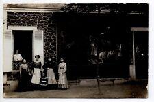 CARTE PHOTO à identifier Devant de magasin MERCERIE J.GIROUD