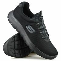 Mens Skechers Summits Slip On Memory Foam Casual Walking Gym Trainers Shoes Size