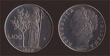 100 LIRE 1968 MINERVA - ITALIA - FDC/UNC FIOR DI CONIO