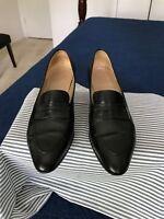 Ferragamo Women's Shoes Heels, 7B, Black, (FF026), Retail $545.00