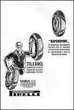 PUBBLICITA' 1932 GOMME PNEUMATICI PIRELLI STELLA BIANCA SUPERFLEX  SUPERSPORT