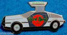 BELFAST DMC-12 DeLOREAN GULL-WING *BACK TO THE FUTURE* CAR Hard Rock Cafe PIN LE