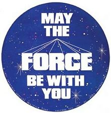 """May The Force Be With You"" Star Wars 70s Travel Sticker"