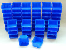 Stapelboxen  60 Stk. Stapelkästen  Gr.1  102x96mm  PP blau Sichtlagerkasten
