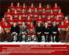 1978-79 MONTREAL CANADIENS STANLEY CUP CHAMPIONS 8X10 TEAM PHOTO GAINEY DRYDEN