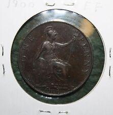 1900 GREAT BRITAIN - QUEEN VICTORIA ONE PENNY - UK - EF