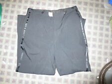 Tuxedo pants 35 x 28 black w satin stripe