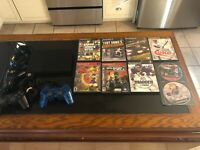 Sony PlayStation 2 Slim PS2 - 2 Controllers, 9 Games and Memory Card Bundle