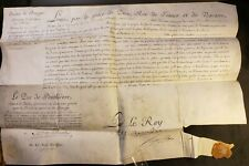 KING LOUIS XVI SIGNATURE - Patent of the Gunners Commission of  Riec 1779