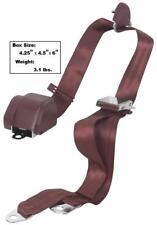 1965-73 Mustang Seat Belt 3 Point Mount w/ Chrome Lift Latch Buckle Burgundy Dii