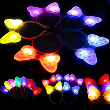 Girls LED Lights Bow Hair bands Party Birthday luminous Headband Headwear