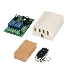 Wireless Remote Control Switch AC 110V 220V 2CH Relay Receiver & RF Transmitter