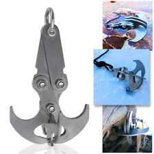 Stainless Steel Carabiner Survival Folding Gravity Grappling Hook Magnetic Claw