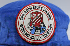 CP Rail Revelstoke BC Working Safely Together Canadian Pacific Train Hat Cap