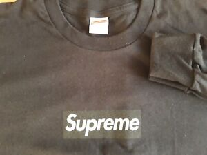 Authentic Supreme box logo long sleeve black t-shirt in xl size